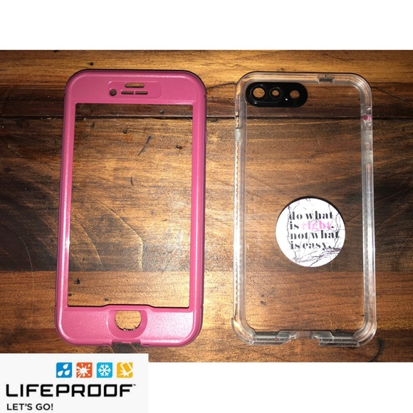 size 40 34e46 f9fc1 Lifeproof iPhone 7/8Plus Case with Popsocket 💕✨
